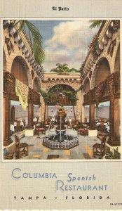 El Patio. Columbia Spanish Restaurant Nice Amerian Postcard 1950s