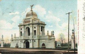 Postcard Hurlburt Memorial Gate Water Works Park Detroit Michigan