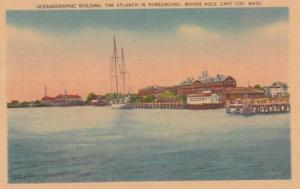 Massachusetts Cape Cod Woods Hole Oceanographic Building The Atlantis In Fore...