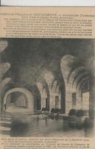 Postal 008373: Cloitre de L?Ossuari de Douaumont, alveoles des Tombeaux, Francia