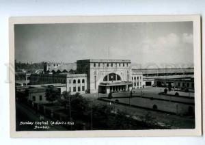 191949 INDIA BOMBAY Central station Vintage photo postcard