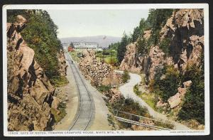 Gate of Notch Towards Crawford House White Mts New Hampshire Used c1913