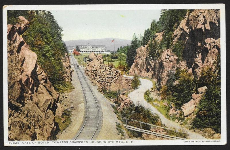 Gate of Notch Towards Crawford House White Mts New Hampshire Used c1913