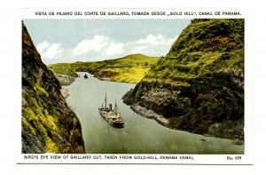 Panama - Canal Zone. Gaillard Cut Viewed from Gold Hill