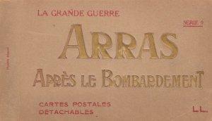Arras Apres Le Bombardment WW1 20x War French Postcard Book