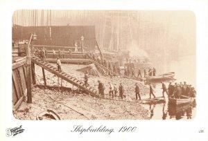 Vintage Reproduction London Postcard, 1900 Thames Shipbuilding Yard DL4