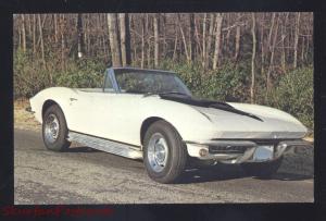 1967 CHEVROLET CORVETTE ROADSTER VINTAGE CAR DEALER ADVERTISING POSTCARD '67