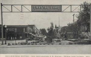 CRYSTAL LAKE, Illinois, PU-1942; Main Business Section