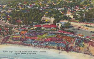 California Laguna Beach Victor Hugo Inn and Heisler Park Floral Gardens Curteich