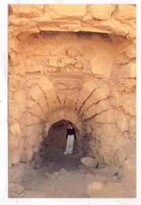 Boy standing in the a  doorway, Bahrain Fort, 50-70s