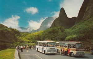 MAUI , Hawaii , 1967 ; Bus Stop at Iao Needle