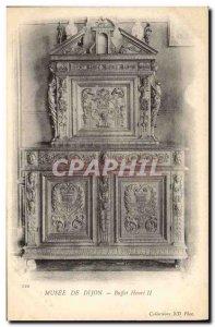 Old Postcard Museum of Dijon Buffet Henry II