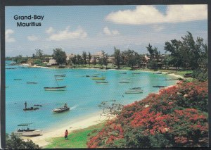 Mauritius Postcard - Boats Moored in Grand Bay T4175