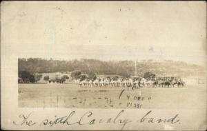 6th Calvary Band Malabang Mindanao Cancel & Stamp 1907 Real Photo Postcard