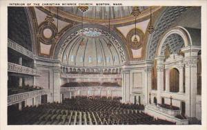 Massachusetts Boston Christian Science Church Interior