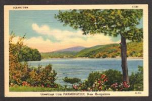 NH Greetings from FARMINGTON NEW HAMPSHIRE Postcard PC