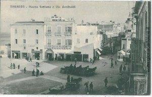 07847  CARTOLINA d'Epoca - TARANTO Citta': VIA GARIBALDI