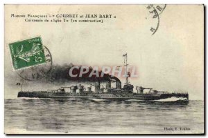 Old Postcard Boat Courbet and Jean Bart Cuirasses of 23460 tx