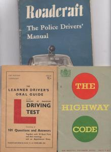 Highway Code Learner Drivers Guide Police Driving 3x Old Books