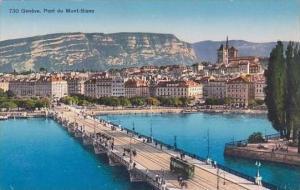 Switzerland Geneve Pont du Mont Blanc