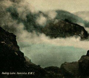 Boiling Lake Island of Dominica BWI Morne Trois Pitons Park 1910s Postcard UNP