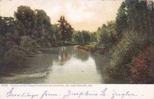 Pennsylvania Paradis Scene On The Pequa Between Gordoniville