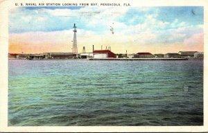 Florida Pensacola U S Naval Air Station Looking From Bay 1939