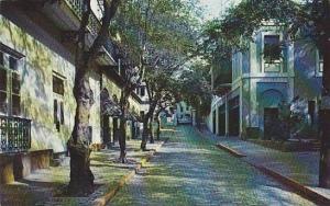 Typical Street Scene, San Juan, Puerto Rico, 40-60s