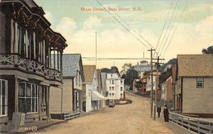 Bear River N. S. Canada birds eye view Main Street antique pc ZD549989