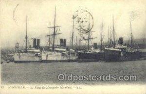 Marseille Ship 1908 postal used 1908