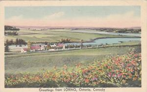 Partial View, Greetings From Loring, Ontario, Canada, 1930-1940s