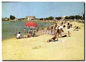 Postcard Modern Flowers Riviera L'Aiguillon S / Mer Vendee Beach