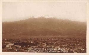 Amecameca Mexico Ixtatcihuatl Volcano Real Photo Antique Postcard K77676