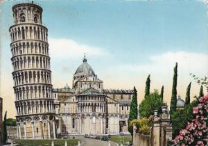 Italy Pisa The Leaning Tower and Apse of the Cathedral 1958