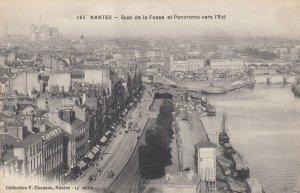 NANTES , France , 00-10s ; Quai de la Fosse et Panorama vers l'Est
