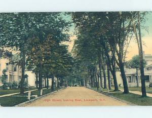 Divided-Back STREET SCENE Lockport - Near Buffalo & Niagara Falls NY W1594