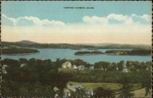 Castine Harbor ME Postcard
