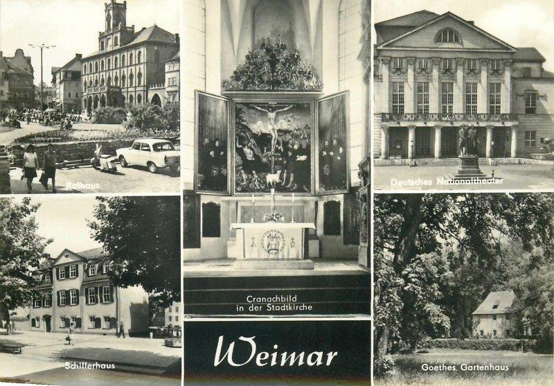 Postcard Germany Weimar multi view