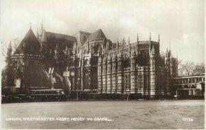 Postcard UK England Westminster, Middlesex Henry VII chapel