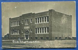 Kimball Nebraska Ne Grade School real photo postcard RPPC