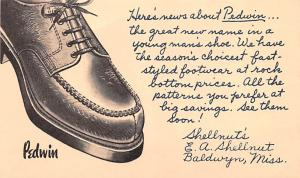 Advertising Post Card Pedwin Baldwyn, Miss. USA Unused