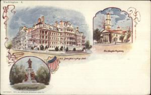 Washington DC Patriographic Souvenir c1900 Postal Card #8 Postcard