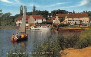 Coltishall Staithe River Bure Norfolk Broads Postcard