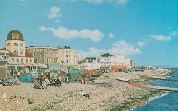 Worthing Dowes Tourist Sussex Gift Shop & Cinema 1970s Postcard