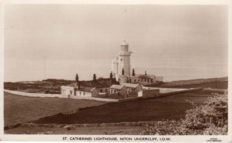 (p48) Wight Niton Undercliff St Catherines Lighthouse RPPC