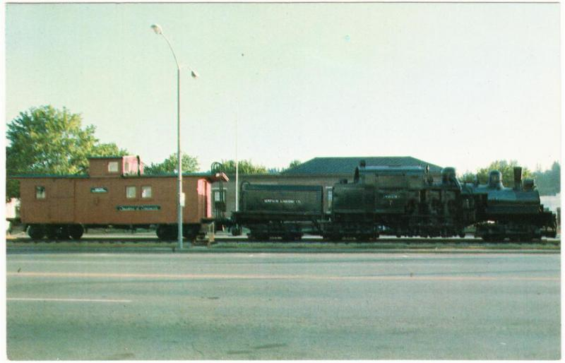 Simpson Logging Company Railroad Tollie Shay and Caboose 700