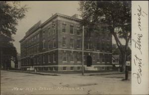 Nashua NH New High School c1910 Real Photo Postcard