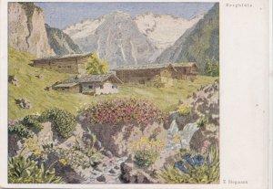 Erich Stegmann, Bergblute, unused Postcard