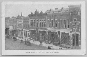 Great Bend Kansas~Main Street Storefront Window Displays~City Bank~1908 PC