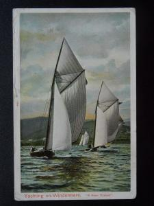 Cumbria YACHTING ON WINDERMERE A Keen Contest c1905 Postcard by Peacock